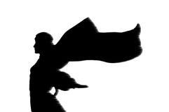 Silueta de la mujer (efecto de viento) Imagen de archivo libre de regalías