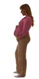 Silueta de la mujer embarazada Foto de archivo libre de regalías