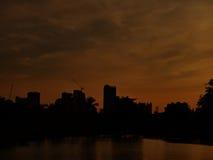 Silueta de la oscuridad Foto de archivo libre de regalías
