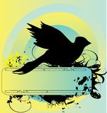 Silueta de la paloma Imágenes de archivo libres de regalías