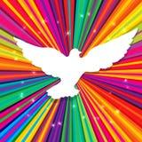 Silueta de la paloma ilustración del vector