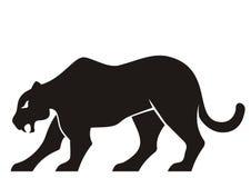 Silueta de la pantera Imagenes de archivo