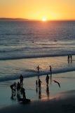 Silueta de la puesta del sol de California Fotos de archivo libres de regalías