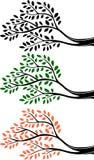 Silueta de la rama de árbol de la historieta stock de ilustración