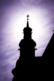Silueta de la torre Fotografía de archivo