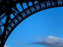 Silueta de la torre Eiffel Imagen de archivo libre de regalías