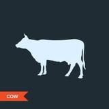 Silueta de la vaca Stock de ilustración