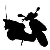 Silueta de la vespa Imagenes de archivo
