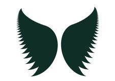 Silueta de las alas Foto de archivo libre de regalías