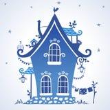 Silueta de las casas stock de ilustración