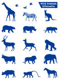Silueta de los animales salvajes stock de ilustración