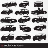 Silueta de los coches Ilustración del Vector