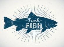 Silueta de los pescados Fotos de archivo