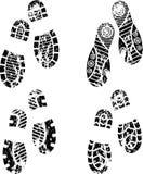 Silueta de los zapatos Imagenes de archivo