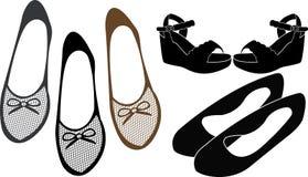 Silueta de los zapatos de las señoras libre illustration