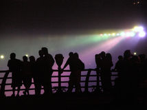 Silueta de Niagara Falls Fotos de archivo libres de regalías