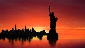 Silueta de Nueva York imágenes de archivo libres de regalías