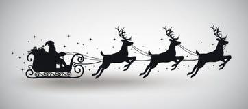 Silueta de Papá Noel Fotos de archivo libres de regalías