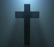 Silueta de Pascua Christian Cross Foto de archivo libre de regalías