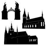Silueta de Praga Imágenes de archivo libres de regalías