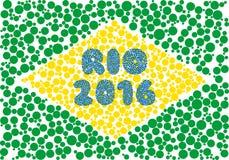 Silueta de Río 2016 que consiste en el círculo ilustración del vector