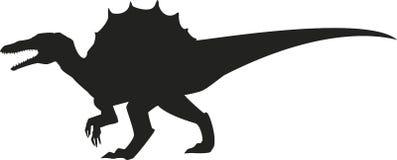 Silueta de Spinosaurus Imagen de archivo libre de regalías