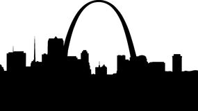 Silueta de St. Louis Imagenes de archivo