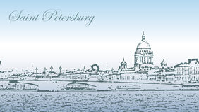 Silueta de St Petersburg Imagen de archivo libre de regalías