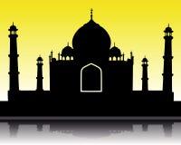 Silueta de Taj Mahal Fotografía de archivo