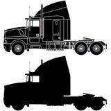 Silueta de un camión Imágenes de archivo libres de regalías