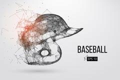 Silueta de un casco del béisbol Ilustración del vector libre illustration