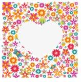 Silueta de un corazón Imagenes de archivo
