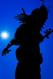 Silueta de un dragón Imagen de archivo libre de regalías