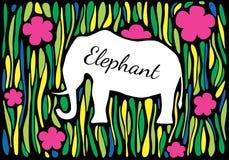 Silueta de un elefante en selva Foto de archivo libre de regalías