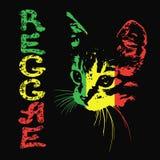 Silueta de un gato reggae Ilustración del vector foto de archivo libre de regalías