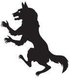 Silueta de un hombre lobo libre illustration