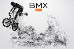 Silueta de un jinete de BMX Ilustración del vector libre illustration
