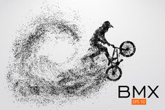 Silueta de un jinete de BMX Ilustración del vector