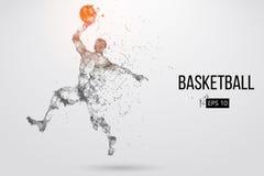 Silueta de un jugador de básquet Ilustración del vector libre illustration