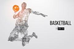 Silueta de un jugador de básquet Ilustración del vector ilustración del vector