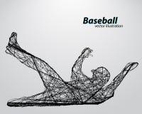 Silueta de un jugador de béisbol Imágenes de archivo libres de regalías
