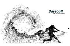silueta de un jugador de béisbol de la partícula stock de ilustración