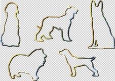 Silueta de un perro ilustración del vector