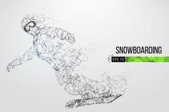 Silueta de un snowboarder Ilustración del vector