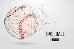 Silueta de una bola del béisbol Ilustración del vector ilustración del vector