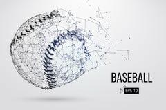 Silueta de una bola del béisbol Ilustración del vector libre illustration