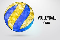 Silueta de una bola del voleibol Ilustración del vector stock de ilustración