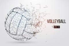 Silueta de una bola del voleibol Ilustración del vector