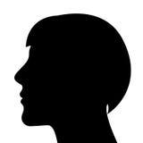 Silueta de una cabeza de la mujer stock de ilustración