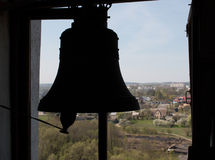 Silueta de una campana Foto de archivo